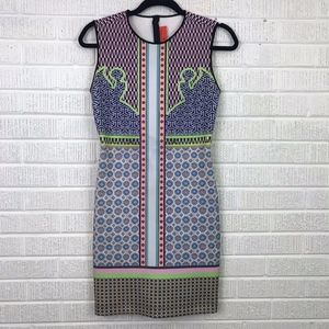 Clover Canyon Patchwork Print Neoprene Scuba Dress